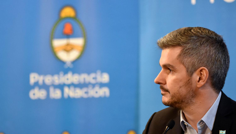 MARCOS PEÑA. El jefe de Gabinete hoy, en el Centro Cultural Kirchner. DYN