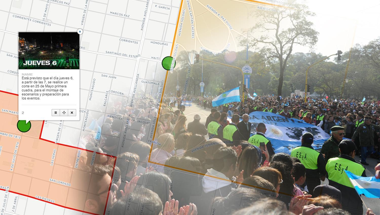 Mapa: cuáles son las calles que estarán cortadas el 8 y 9 de Julio por los festejos patrios