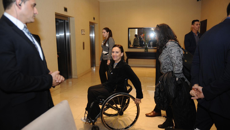GABRIELA MICHETTI. La vicepresidenta, en el hotel donde se hospeda. LA GACETA / OSVALDO RIPOLL