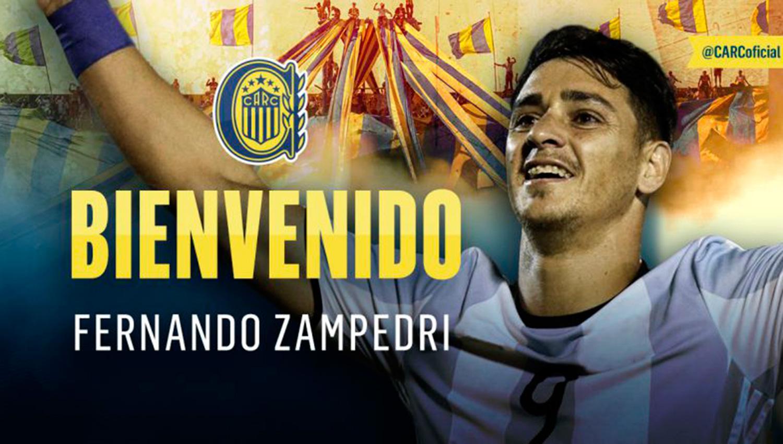 Así presentaron a Zampedri en Rosario.
