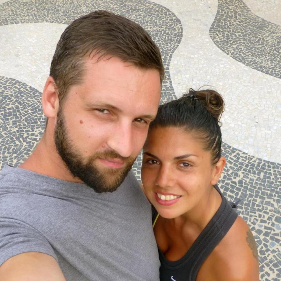 """""""Ben"""" y Soledad, durante un viaje que hicieron a Río de Janeiro hace algunos años"""