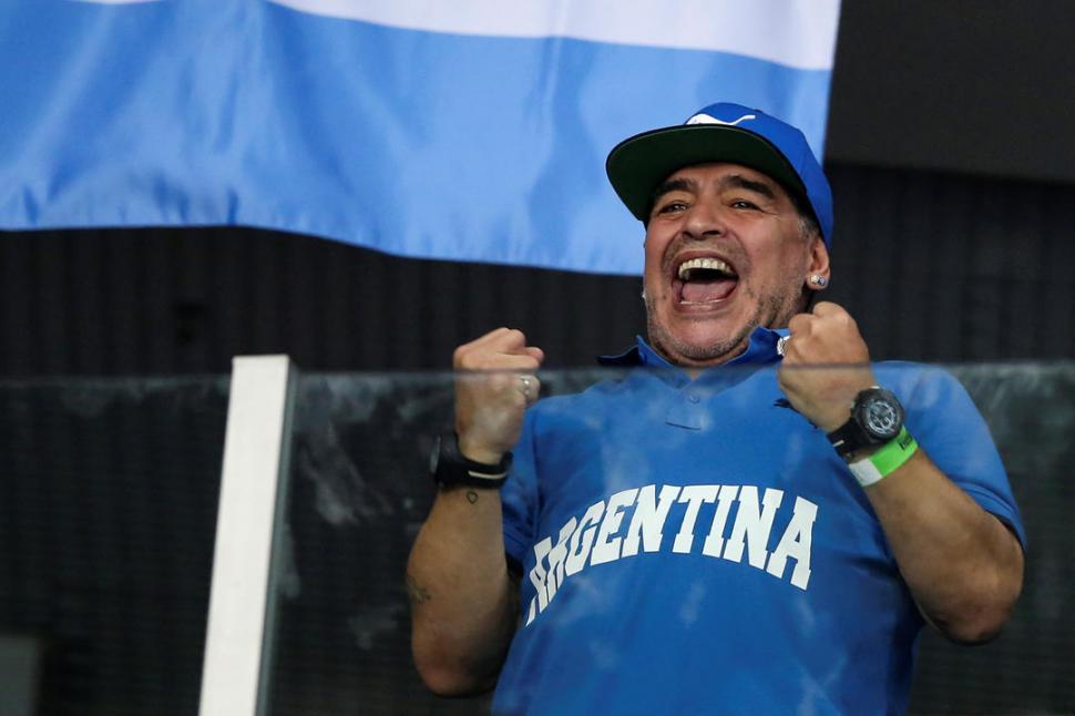 """APOYO. El ex futbolista argentino dijo que quiere una """"Venezuela libre"""". reuters"""
