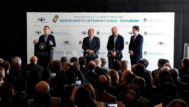 EN TUCUMÁN. Fue la séptima vez que Macri visitó la provincia en 19 meses de mandato. LA GACETA / FOTO DE ANALÍA JARAMILLO VÍA MÓVIL