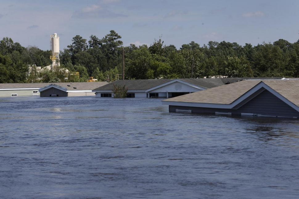 BAJO EL DOMINIO DEL AGUA. Desde hace una semana hay ciudades de Texas, como Rose City, inundadas completamente.