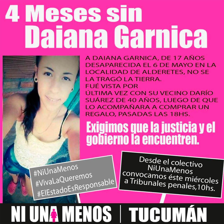 Se cumplen cuatro meses sin Daiana Garnica: la familia denuncia que no hay avances en la investigación