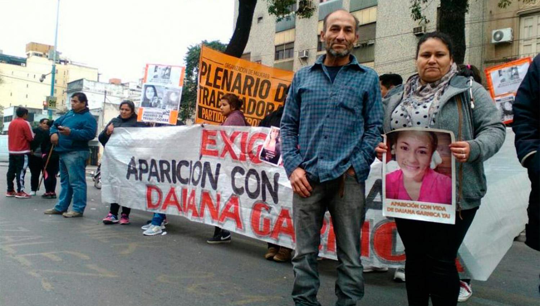 SIN SU HIJA. Los padres de Daiana piden respuestas a la Justicia y anhelan encontrarla con vida. FOTO ARCHIVO