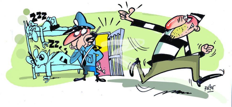 Un detenido se habría fugado en un patrullero