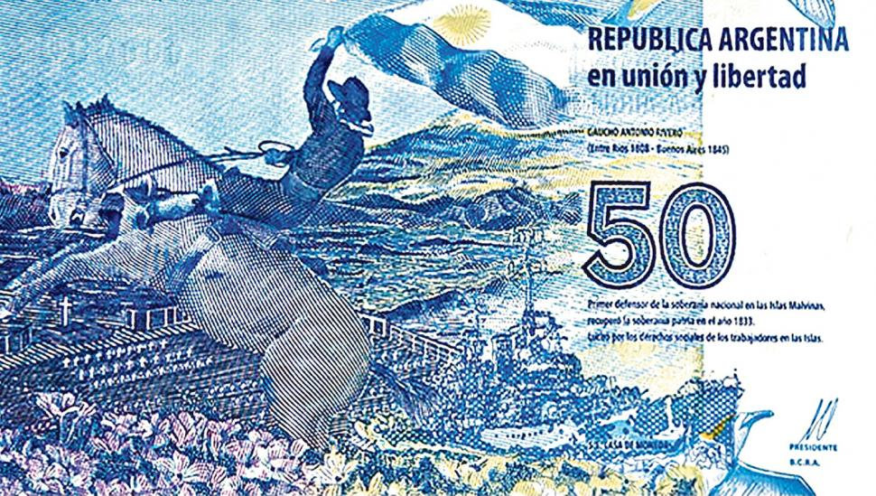 Historiadores no quieren al Gaucho Rivero en el billete de $ 50