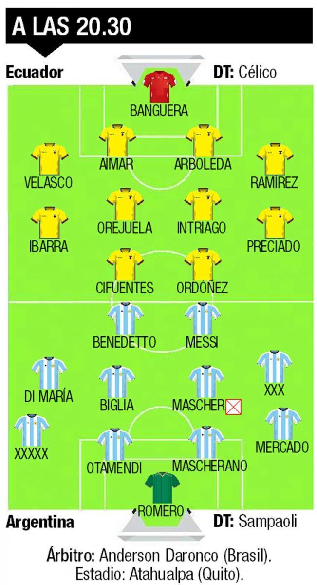 Messi deberá ponerse el equipo al hombro ante Ecuador si pretende jugar el Mundial