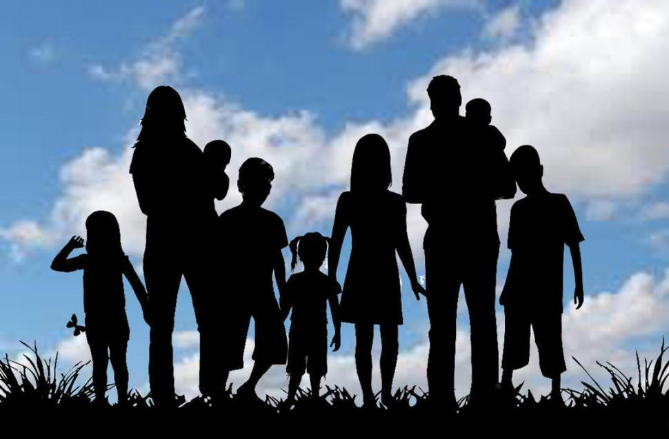 Día de  la Madre: de golpe se encontró con una familia numerosa