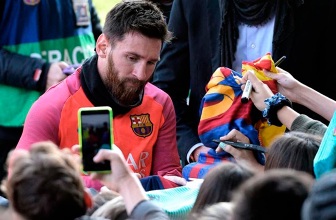 SOLIDARIO. Lionel Messi (ARCHIVO)