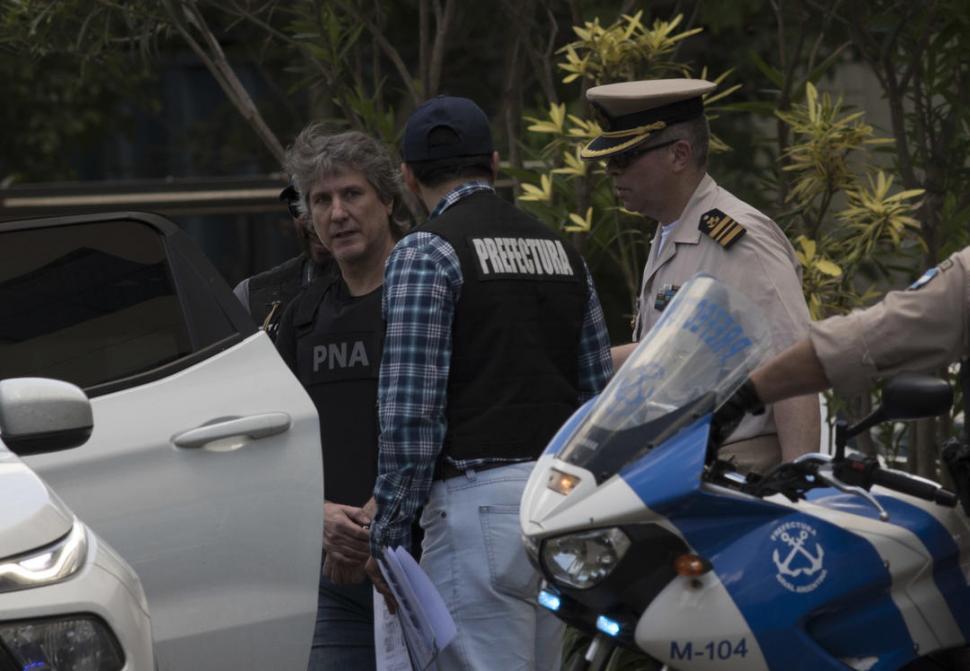 ILEGAL. Boudou fue detenido el viernes pasado, en la causa en que la se investiga enriquecimiento ilícito y negociaciones incompatibles con su función. telam