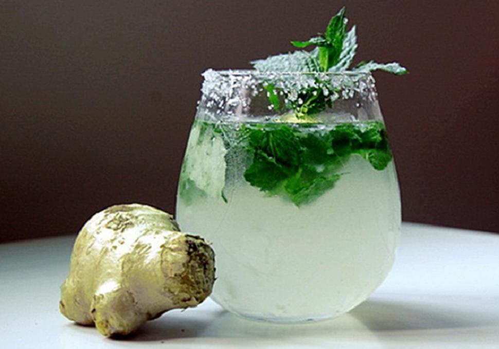 Limón, menta y jengibre