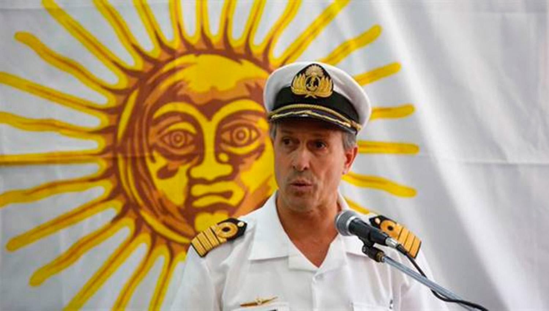 ENRIQUE BALBI. Vocero de la Armada. ARCHIVO