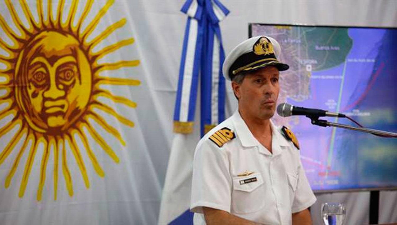 ENRIQUE BALBI. Vocero de la Armada Argentina.
