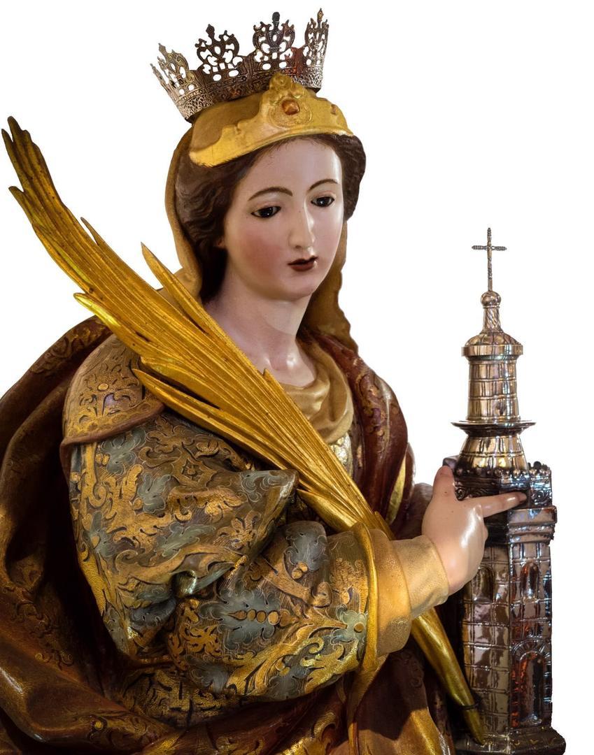 SANTA BÁRBARA. Imagen de la virgen y mártir, a la cual los vecinos pedían que calmase las furias del clima.