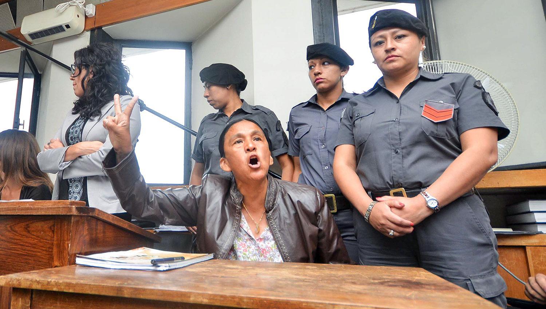 DESAFIANTE. Milagro Sala acusó al Gobernador jujeño de haberle armado la causa. FOTO TÉLAM