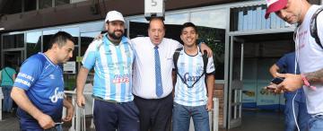 Los hinchas de Atlético comenzaron a copar Mendoza
