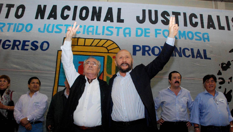 LA FORMULA. Bogado acompañó a Insfrán en su quinto mandato como gobernador de la provincia. TÉLAM