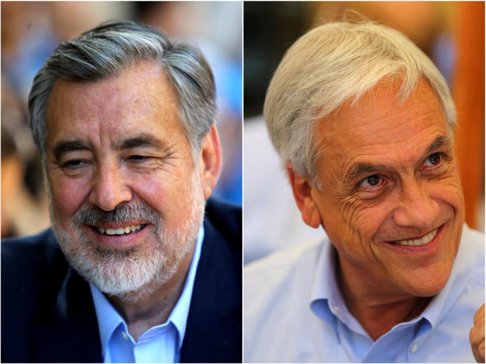 CONTINUIDADES. Guillier es el candidato oficialista y Piñera ya fue presidente. reuters