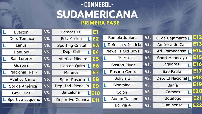 Así quedaron los cruces de la Copa Sudamericana 2018
