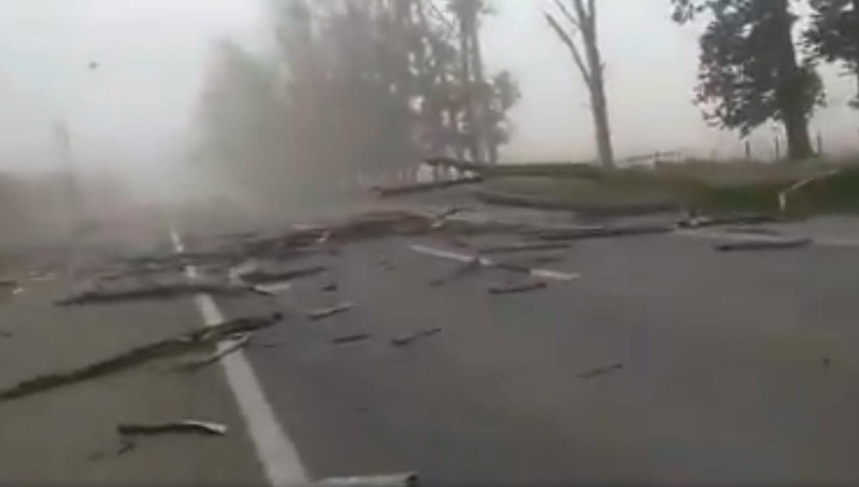Polvareda, troncos sobre la ruta y desolación: el impactante video filmado en La Invernada