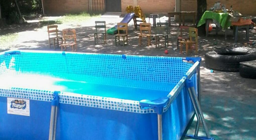 LA PILETA DEL ACCIDENTE. Theo Rodríguez se ahogó dentro de esta pileta. FOTO TOMADA DE LA VOZ