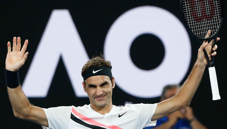 INOXIDABLE. El suizo de 36 años llegó a semifinales de un Grand Slam por cuadragésima tercera vez en su carrera, la undécima en que lo hace sin perder un set. REUTERS
