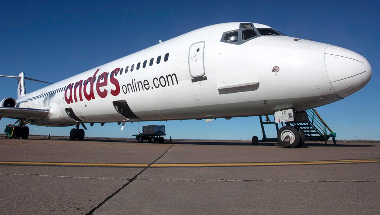 ANDES LÍNEAS AÉREAS. Una de las aeronaves que opera la empresa. ARCHIVO