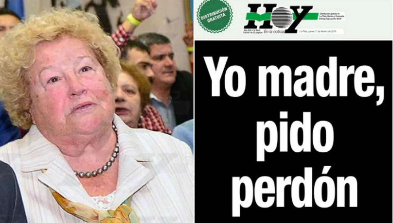 ENOJO. Myriam Nené Chávez de Balcedo, la madre del sindicalista que quedó detenido en Uruguay.