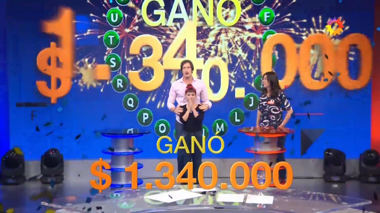 Martina se llevó más de un millón de pesos a su casa. CAPTURA DE PANTALLA