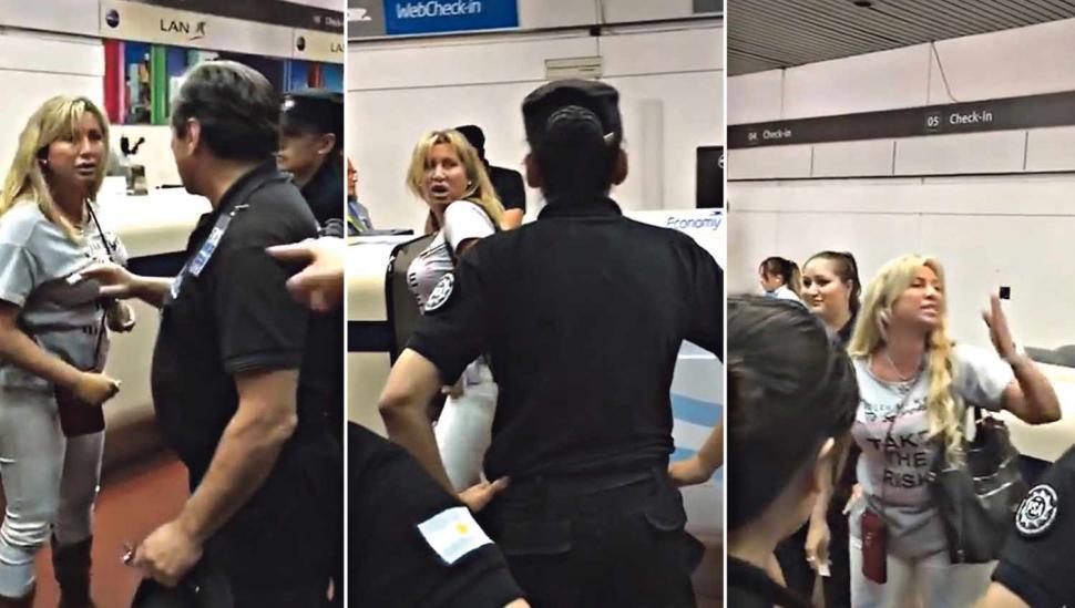 La mujer del escándalo del aeropuerto negó tener vinculación con el crimen