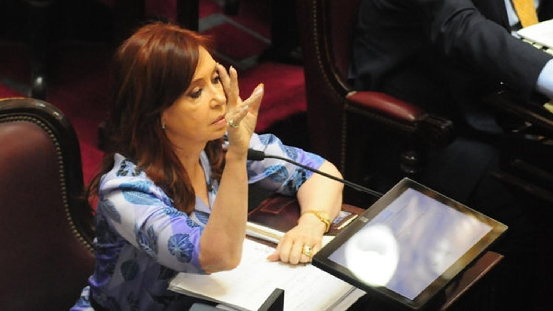 CRISTINA KIRCHNER. Es el primer proyecto de ley que la ex presidenta presenta desde que asumió. FOTO TOMADA DE INFOBAE.COM