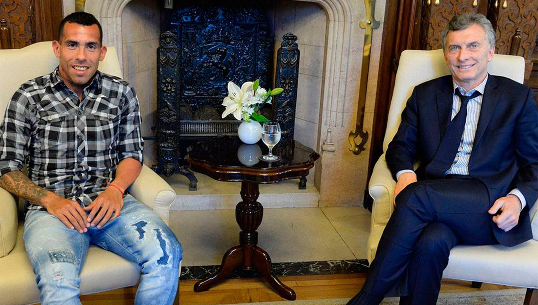 BUENOS AMIGOS. Tevez reconoció más de una vez su buena relación con Macri. (AND DIGITAL)