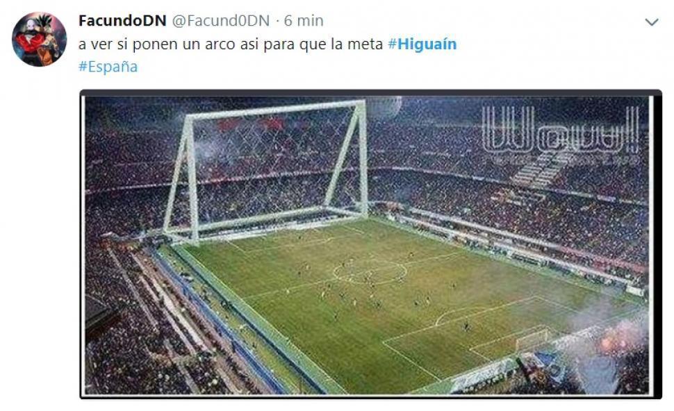 No le perdonan a Higuaín el haber errado un gol bajo el arco