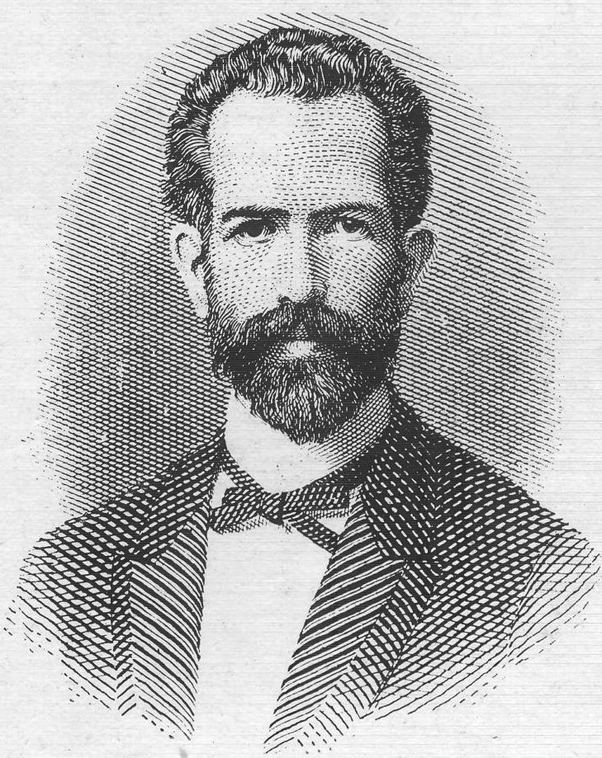EL GOBERNADOR QUINTEROS. Un excelente retrato, ejecutado a pluma en 1888.