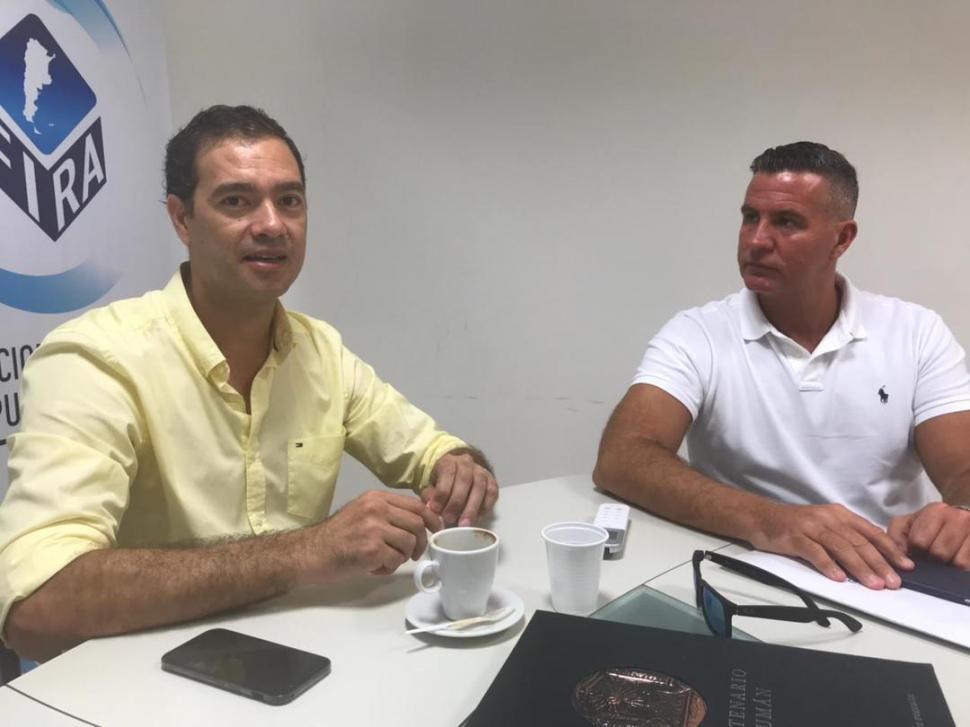 MAYORES CONTROLES. Alejandro García  y Fernando Guzmán, representantes de los corredores inmobiliarios.