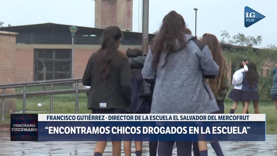 El paco hace estragos en chicos de la escuela frente al Mercofrut