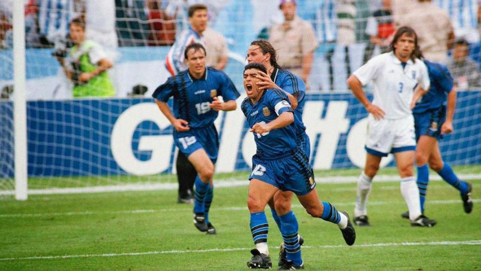 EL ÚLTIMO GRITO. Maradona le marcó a Grecia su último gol en Mundiales.