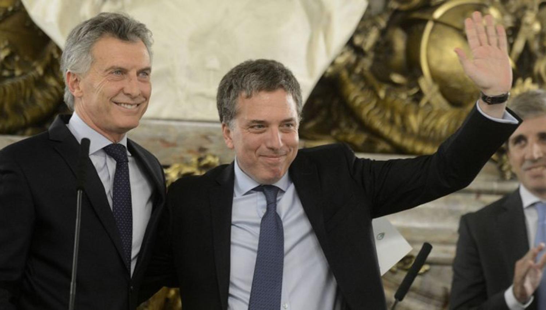 Mauricio Macri y Nicolás Dujovne. ARCHIVO