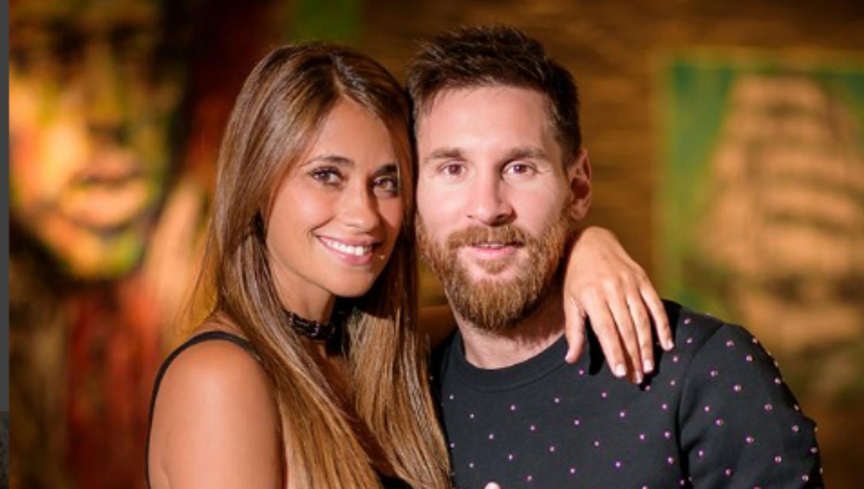 El festejo de Antonela Roccuzzo en las redes sociales, alentando a Messi