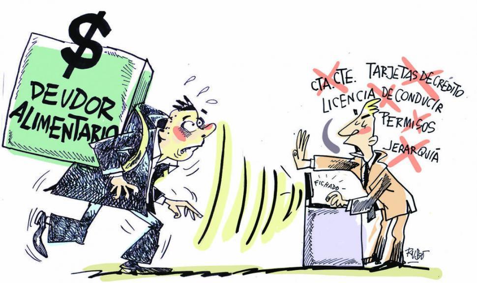 Aumentarán las restricciones para deudores de alimentos