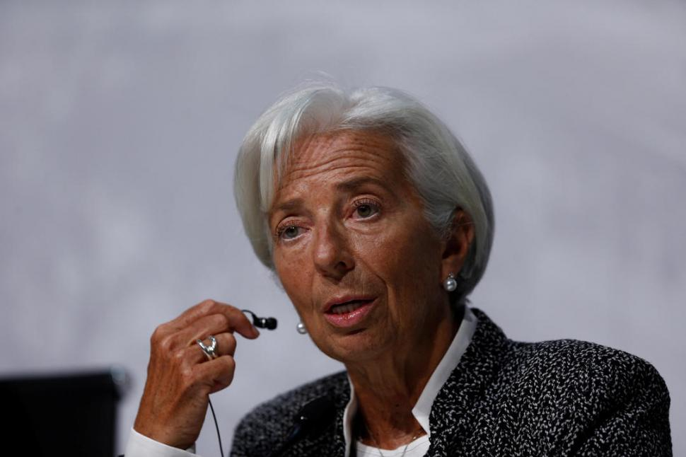 CONTUNDENTE. Lagarde no dudó al asegurar que la inflación va a bajar. reuters