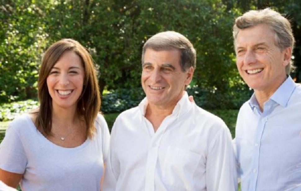 EX ALIADO. Marasco (centro) negó aportes a la gobernadora Vidal y a Macri. infonews.com