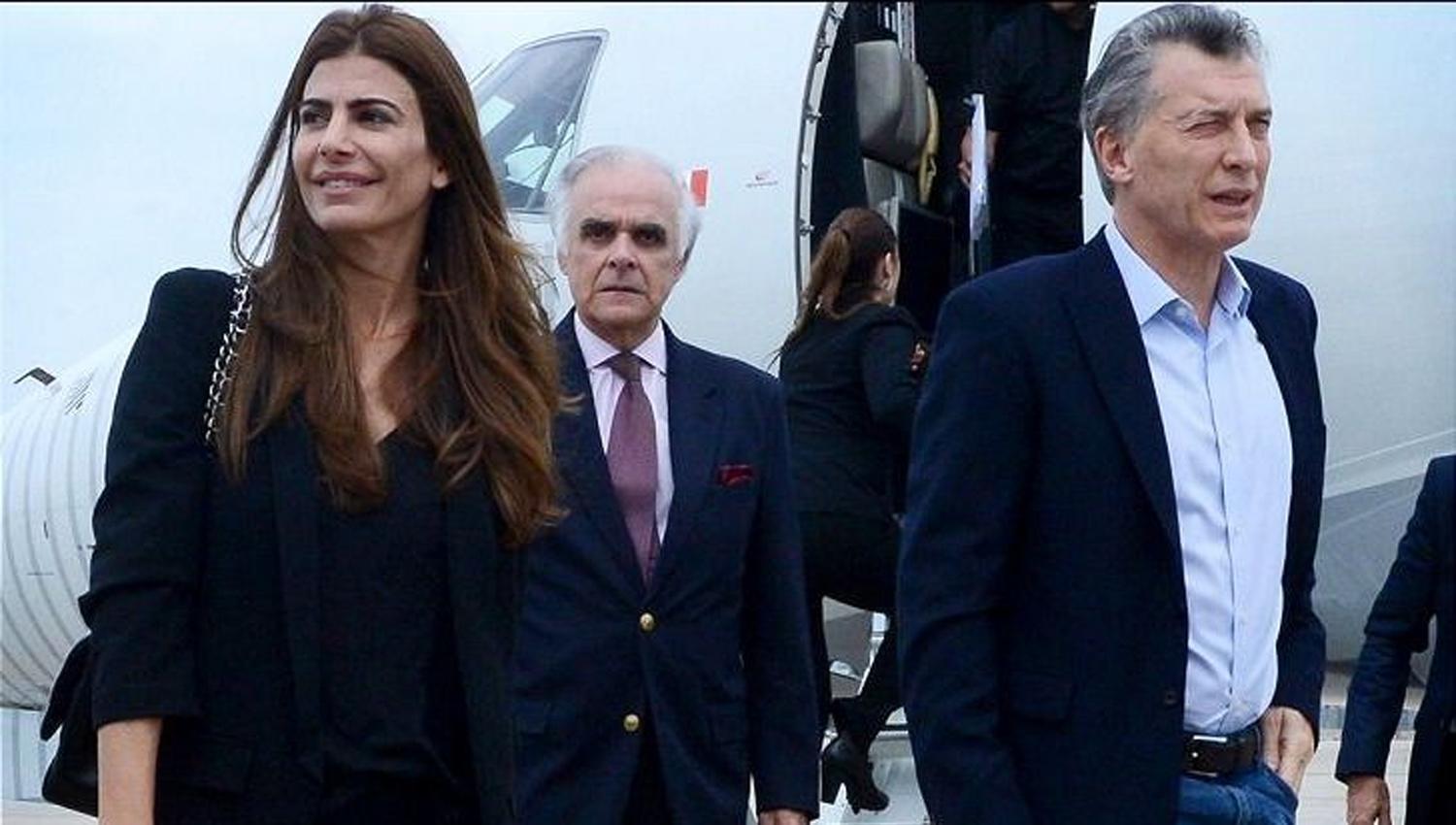 JULIANA AWADA Y MAURICIO MACRI. La pareja presidencial se encuentra en Nueva York.