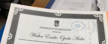 Autoridades universitarias dicen que es falso el título del máster de Ojeda Ávila