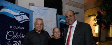 Son tucumanos, viven en distintos kibutz y aprovecharon la visita de Manzur para juntarse
