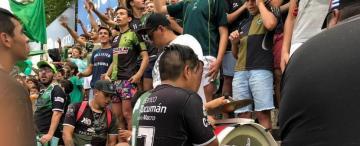 En la final de rugby contrataron a barras de Atlético y San Martín para que toquen música