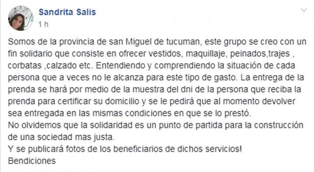 93abb684e Cientos de tucumanas ofrecen sus vestidos para que las egresadas ...