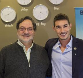 "Agustín Neglia visitó las oficinas de ""Luis Japaze Tours"""